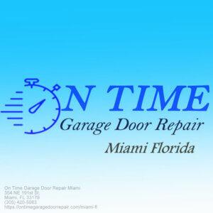 on time garage door repair miami